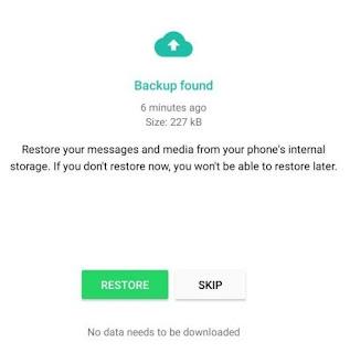 WhatsApp चैट बैकअप