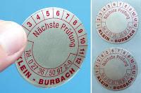 Etiketten aus reiner Aluminiumfolie