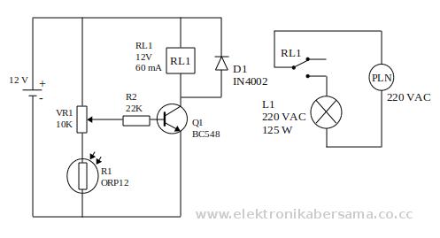 rangkaian otomatis lampu jalan transistor saklar relay rh elektronikabersama web id Model Model Lampu Penerangan Jalan Jakarta Lampu Merah