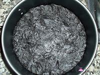 Base de galletas en el molde