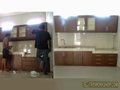 Workshop Bengkel Furniture Desain Interior Setting Ruang Dapur, Pantry,  Bar, Kantin, Restoran, Kitchen Set