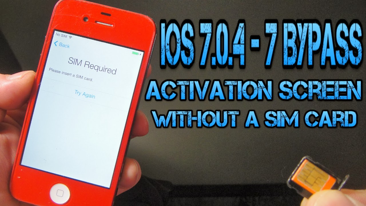 Gsmideazone: How to Bypass & Hacktivate iOS 7 0 4 - 7 Activation