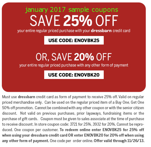 Dressbarn coupon code