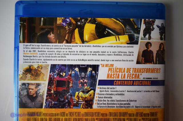 Análisis y reportaje fotográfico de la edición Bluray 'Bumblebee'