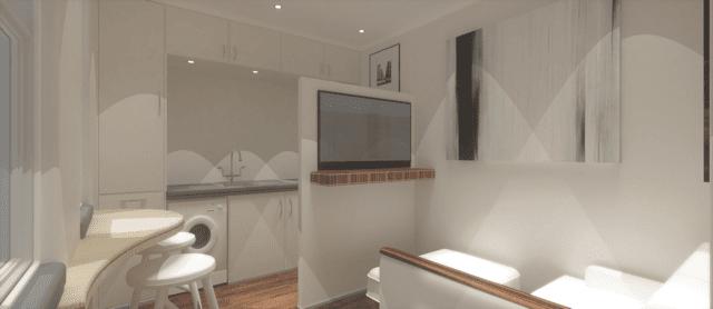 Ikozie micro house Livingroom