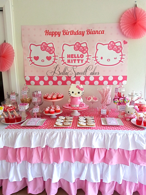 Party Hat Candy Buffet Table Hello Kitty
