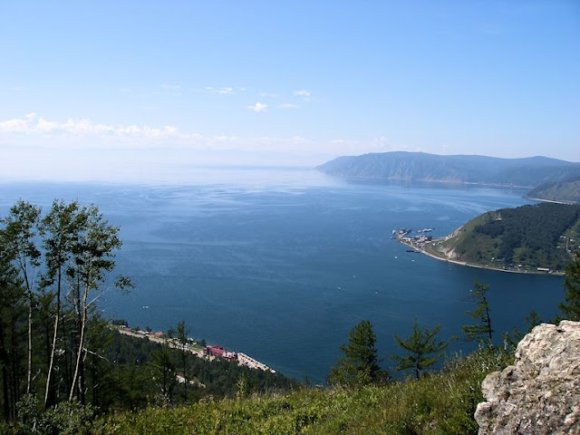 Lake Baikal from viewpoint near Listvyanka