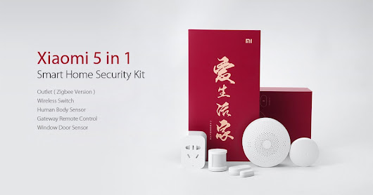 Xiaomi 5 in 1 Smart Home Security Kit available at GearBest!