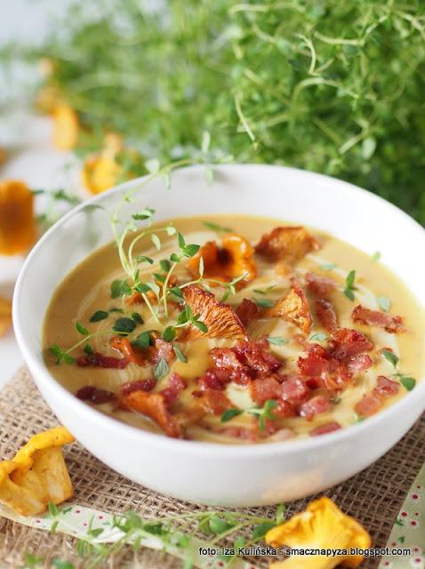 zupa krem, krem z kurek i cukinii, kurki, cukinia, zupa dnia, najsmaczniejsza zupa, pieprznik jadalny, dania z kurek
