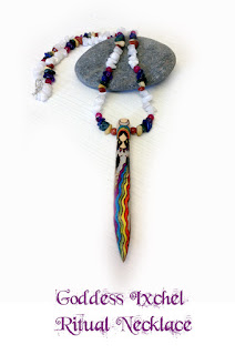 Goddess Ixchel Ritual Necklace from MoonsCrafts