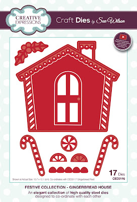 Festive Collection Gingerbread House Dies - CED3116
