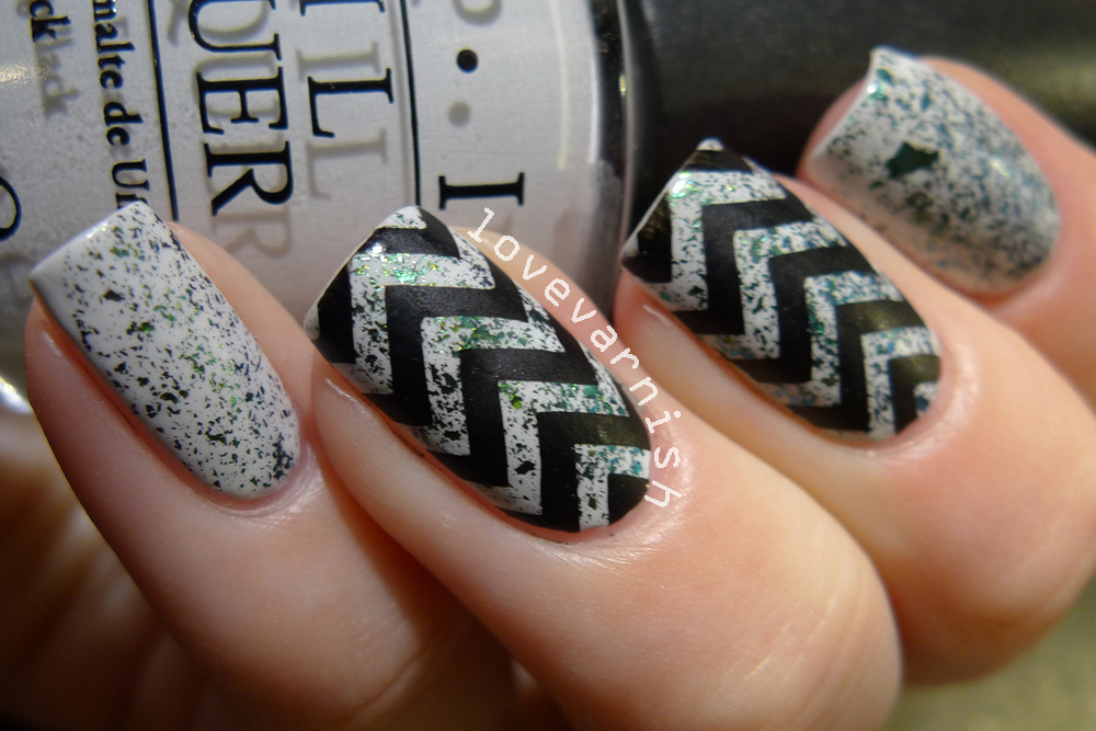 Love Varnish: Chevron nail art with Lacquester Greeench