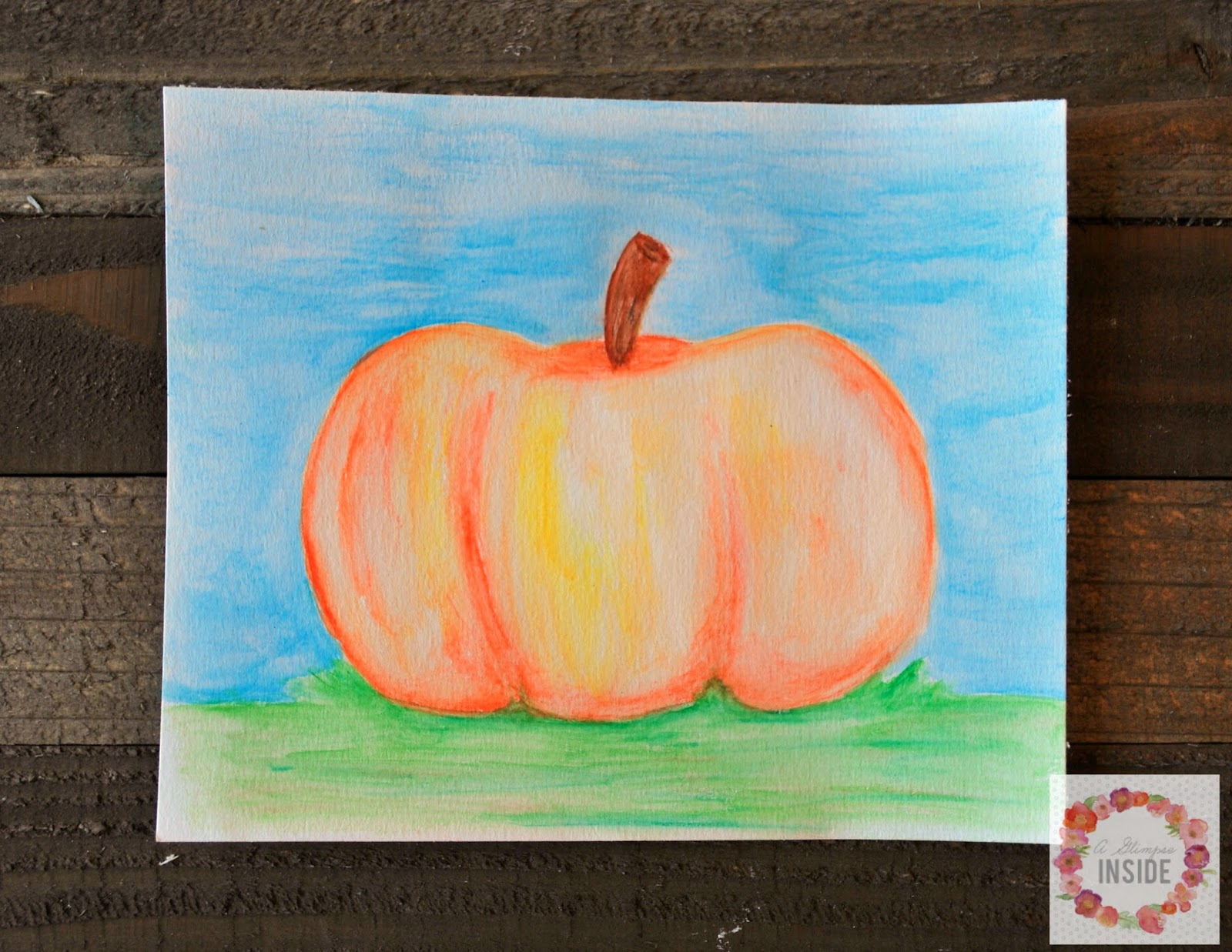 A Glimpse Inside: Craft with Me: Easy Watercolor Pencil Art