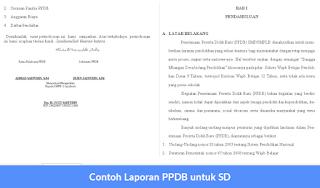Contoh Laporan PPDB untuk SD