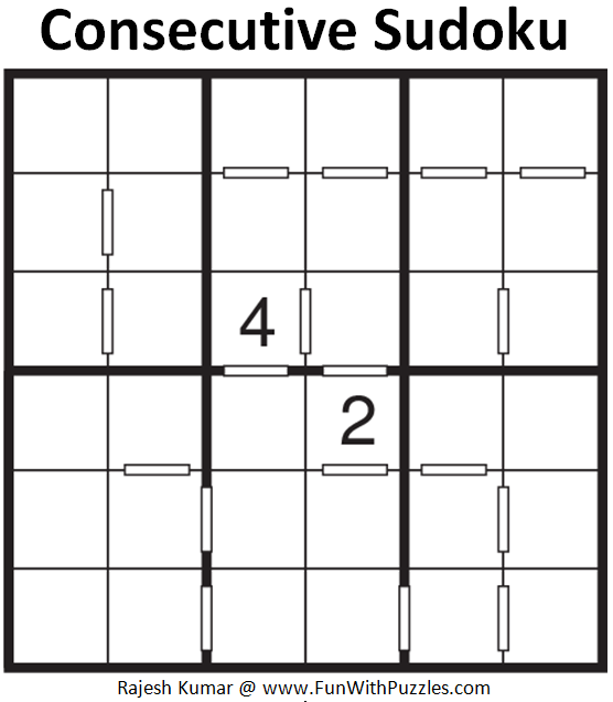 Consecutive Sudoku (Mini Sudoku Series #88)