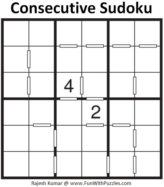 Consecutive Sudoku (Mini Sudoku Series #88)