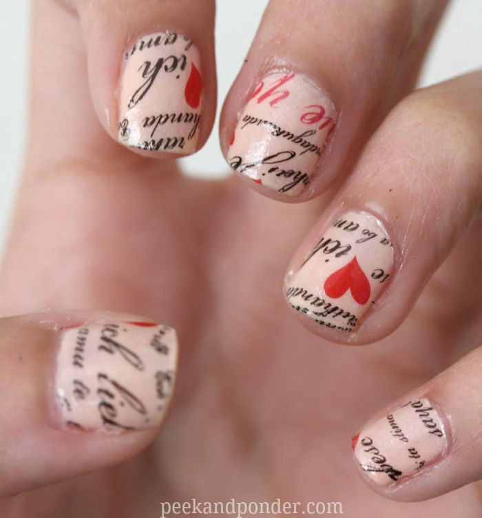 Love Letter Nails With Nail Tattoos Peek Amp Ponder