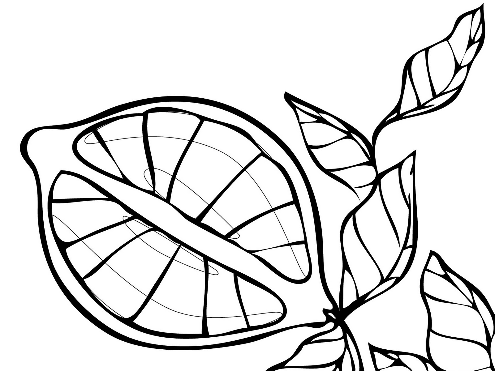 Lemons Fruit Coloring Pages To