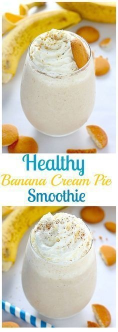 Healthy Banana Cream Pie Smoothie