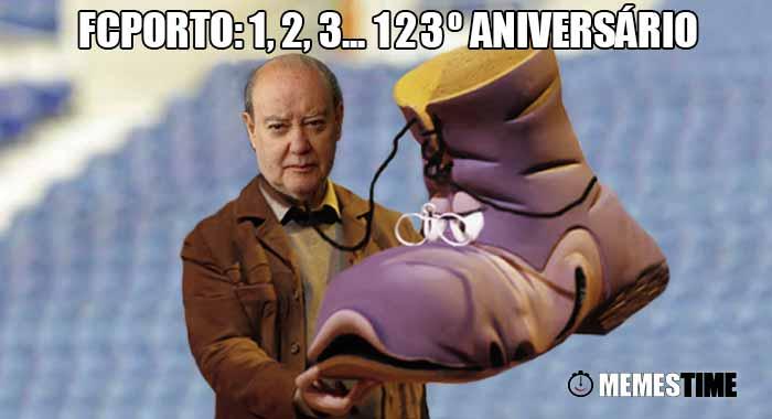 Memes Time, da bola que rola e faz rir - 123º Aniversário do Futebol Clube Presidido por Alexandre Pinto da Costa – FCPorto: 1, 2, 3... 123º Aniversário