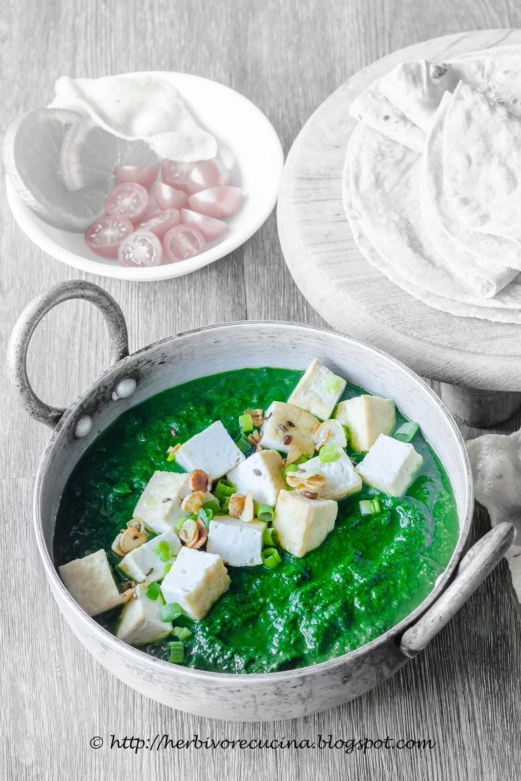 Herbivore Cucina Palak Tofu Spinach And Tofu Curry