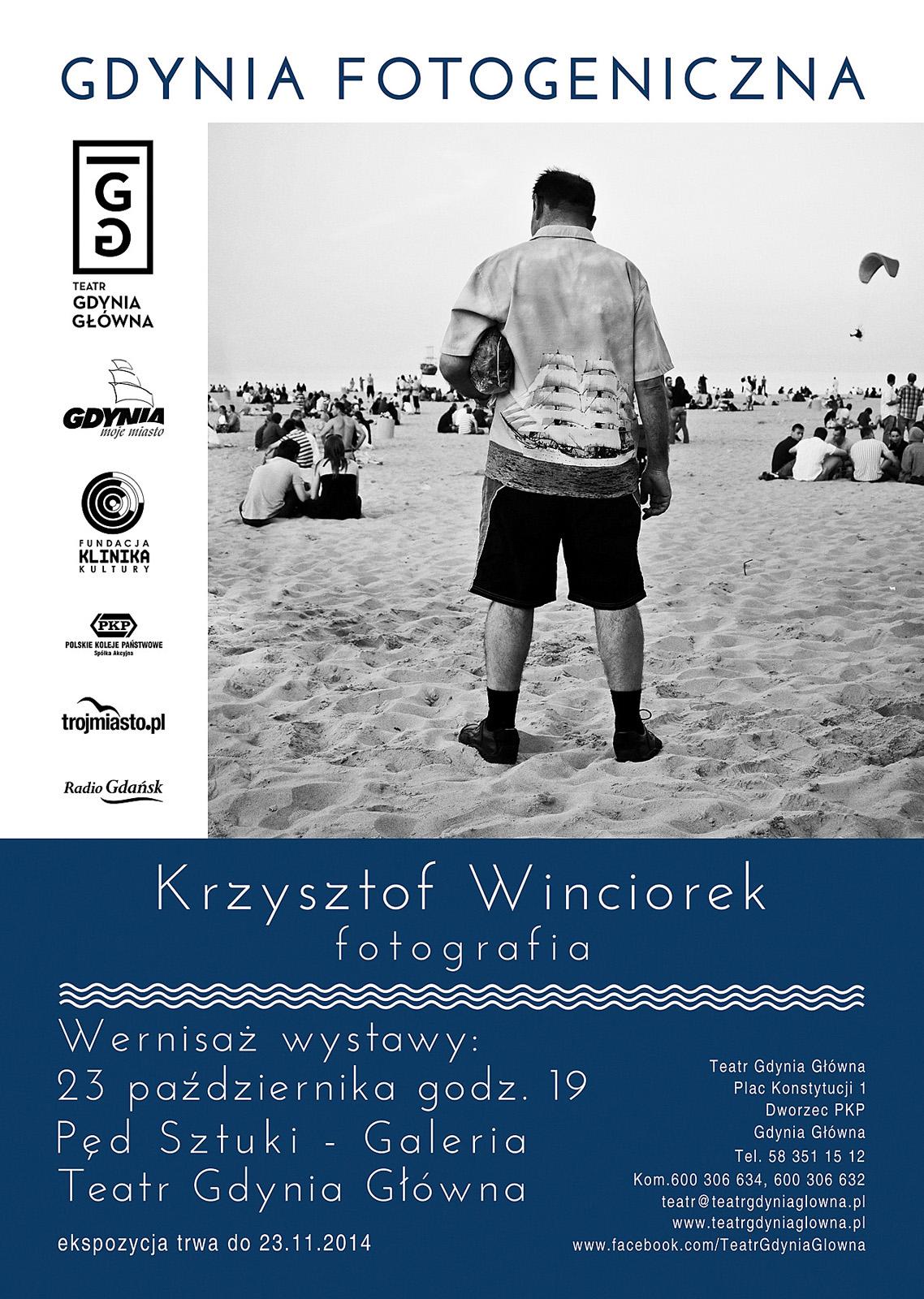 Plakat informacyjny do wystawy Krzysztofa Winciorka