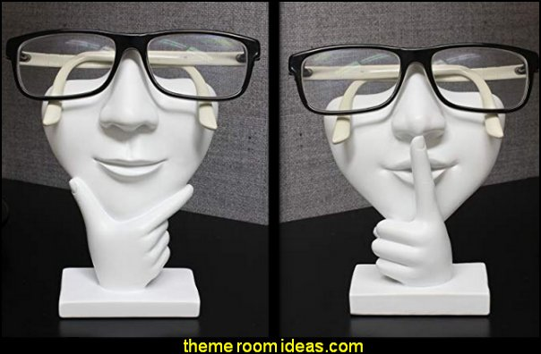 Artsy Face Eyeglass Holder Stand  Hipster decorating style - hipster decor - Hipster wall art - Hipster room decor - Hipster bedding - urban decor - retro decor - vintage cool decor - Steampunk - hipster bedroom ideas - Hipster home decor -   Hipster gifts - Marquee signs - hipster style quirky fun decor - hipster bedroom decorating ideas - hipster room ideas for guys - Hipster bedroom wall decor -  hipster decorative pillows