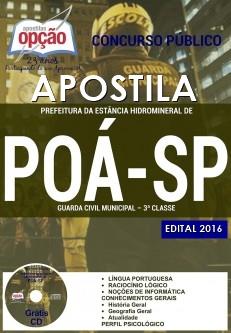 apostila prefeitura de Poá GCM 2016