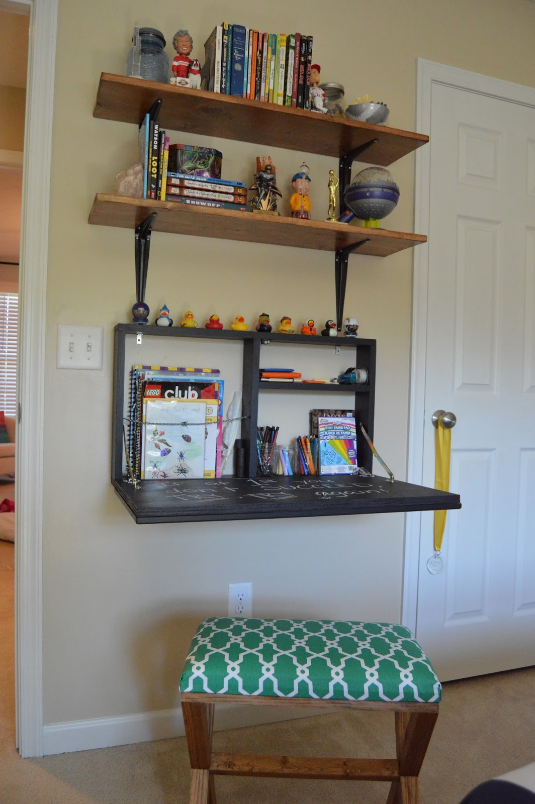 Designed To Dwell: DIY Pull-Down Wall Desk