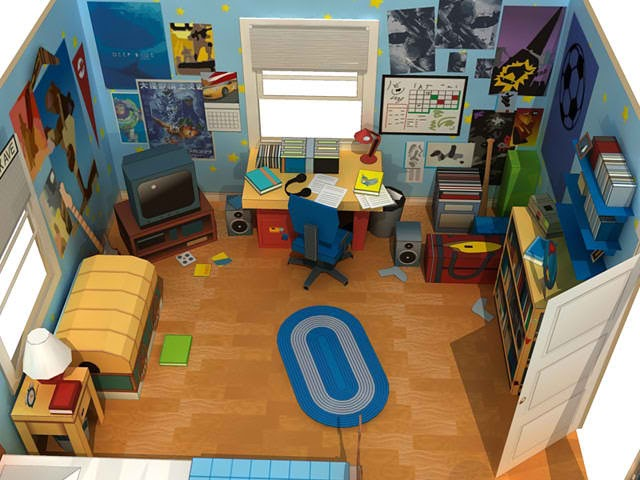 Toy Story 3 Papercraft Andy S Room Diorama Papercraft