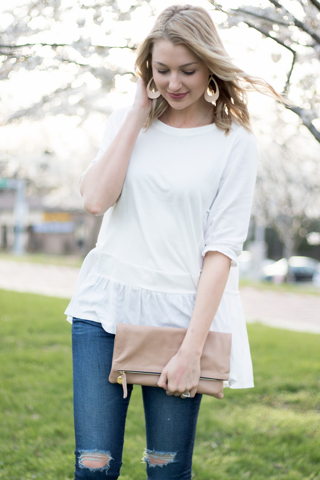 Breezy white blouse