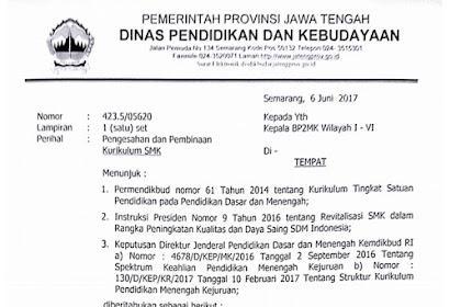 Surat Edaran Pengesahan dan Pembinaan Kurikulum SMK Berdasarkan Permendikbud