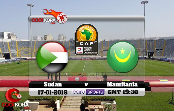 مشاهدة مباراة موريتانيا والسودان اليوم 17-1-2018 بطولة أفريقيا للاعبين المحليين