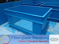 model bak ikan fiber dilengkapi kaca