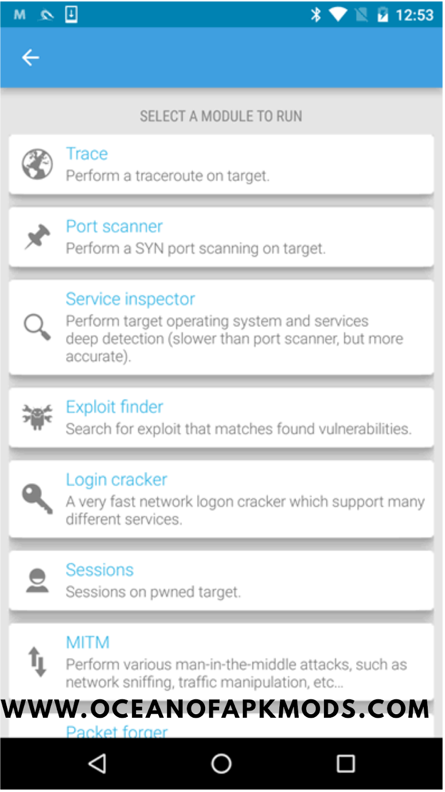 cSploit | Advanced Hacking Tool for Android | latest version - Ocean