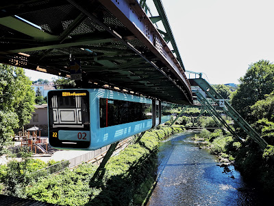 The Schwebebahn in Wuppertal North Rhine-Westphalia