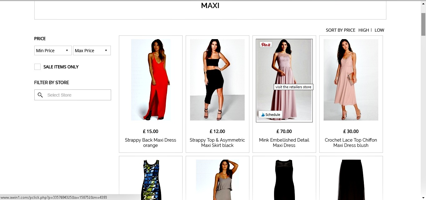 Octer - display of maxi dresses