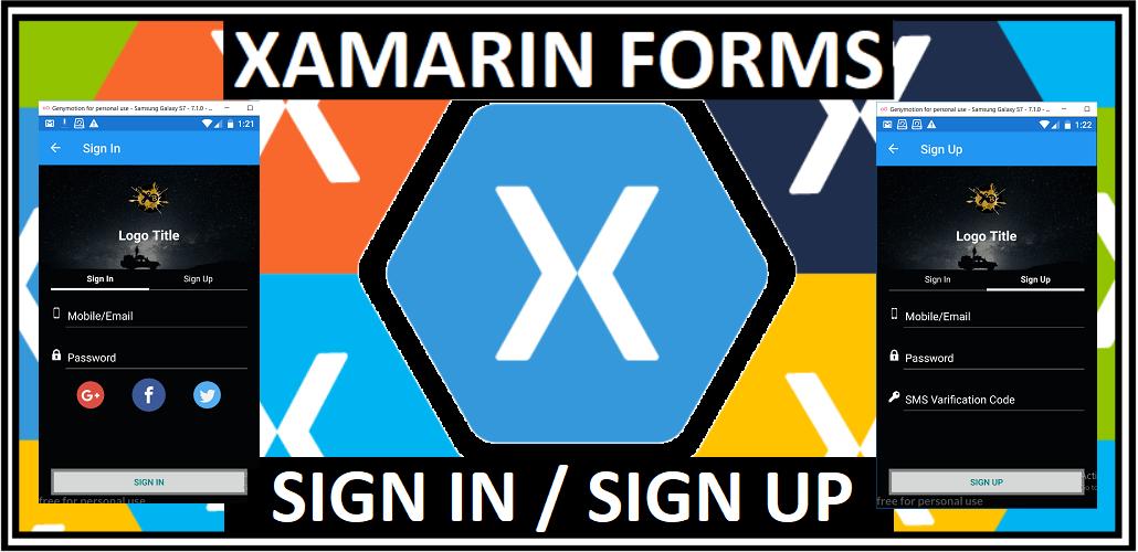 Xamarin Buddy }: XF SIGN IN/UP ANIMATION