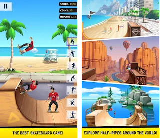 Flip Skater Mod Apk a lot of diamonds Free for android