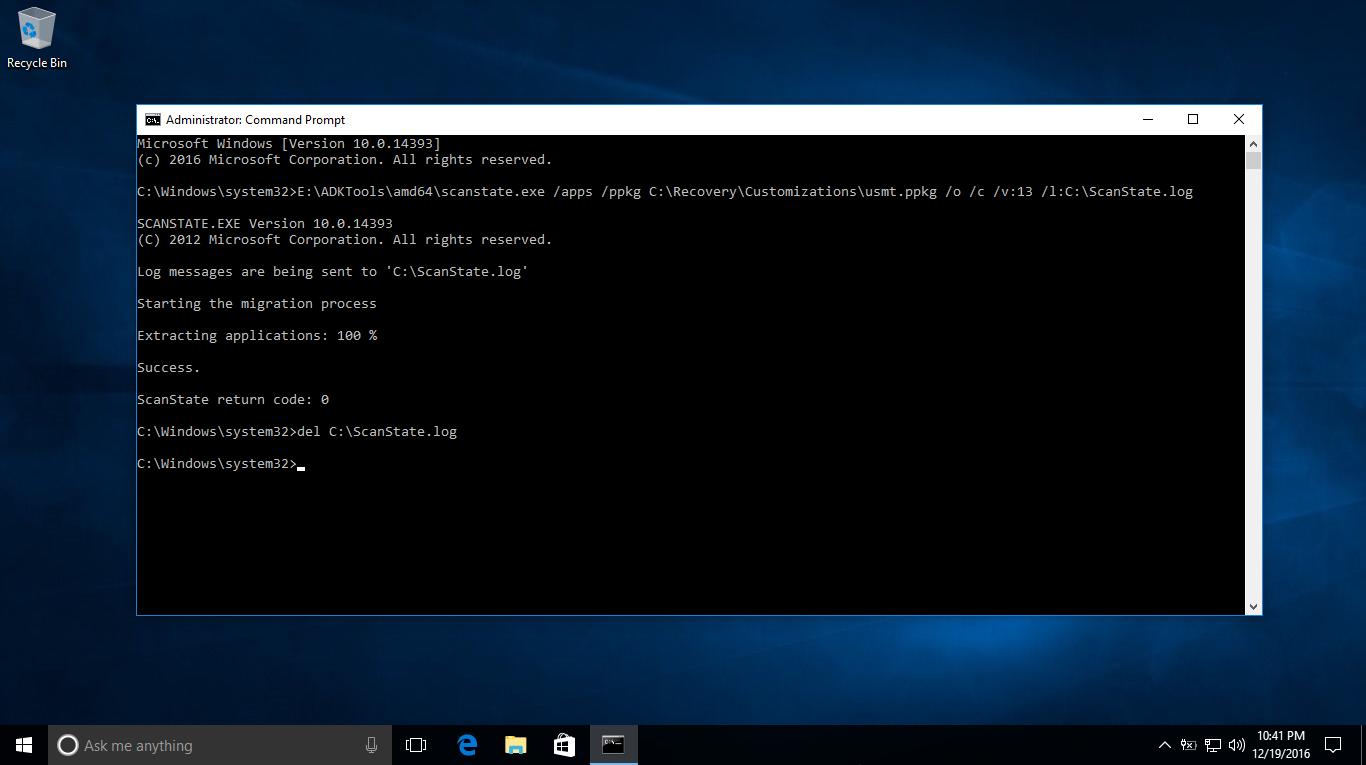 Cách để giữ lại phần mềm đã cài trên Windows 10 phiên bản 1607 khi recovery lại máy