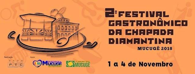 Mucugê recebe a segunda edição do Festival Gastronômico da Chapada Diamantina