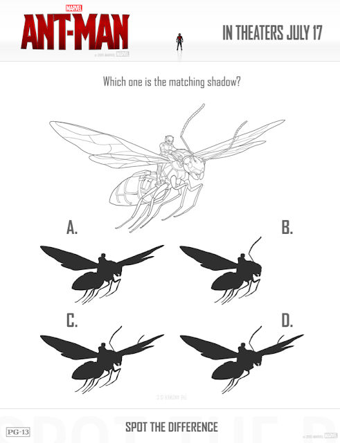 ant-man free printable spot the difference activity sheet