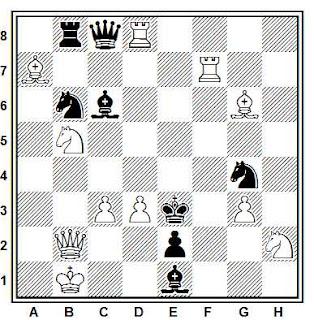 Problema de mate en 2 compuesto por Herbert Ahues (Vart Hem 1940, 2º Premio)