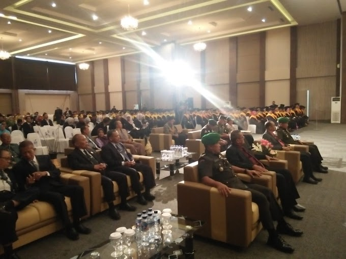 Danramil 0819/25 Gadingrejo Memantau Dan Amankan Rapat Senat Terbuka Universitas Merdeka Pasuruan
