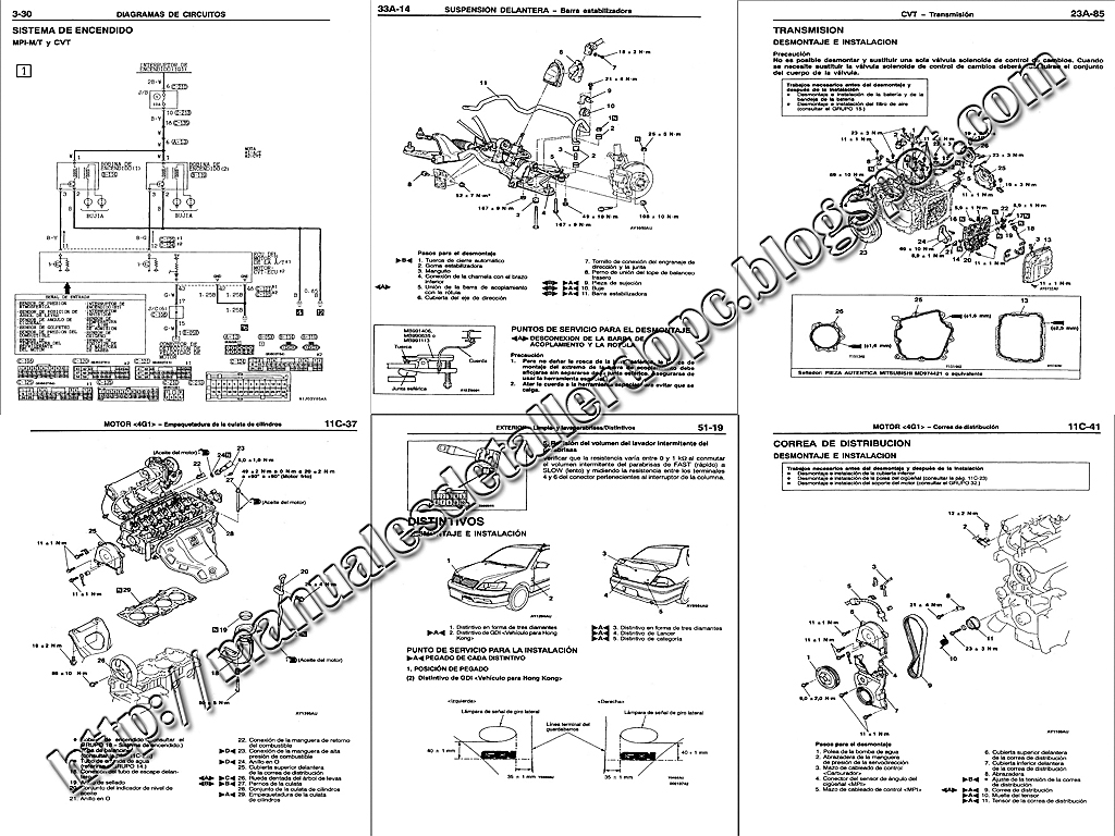 mitsubishi diagrama de cableado de la bomba