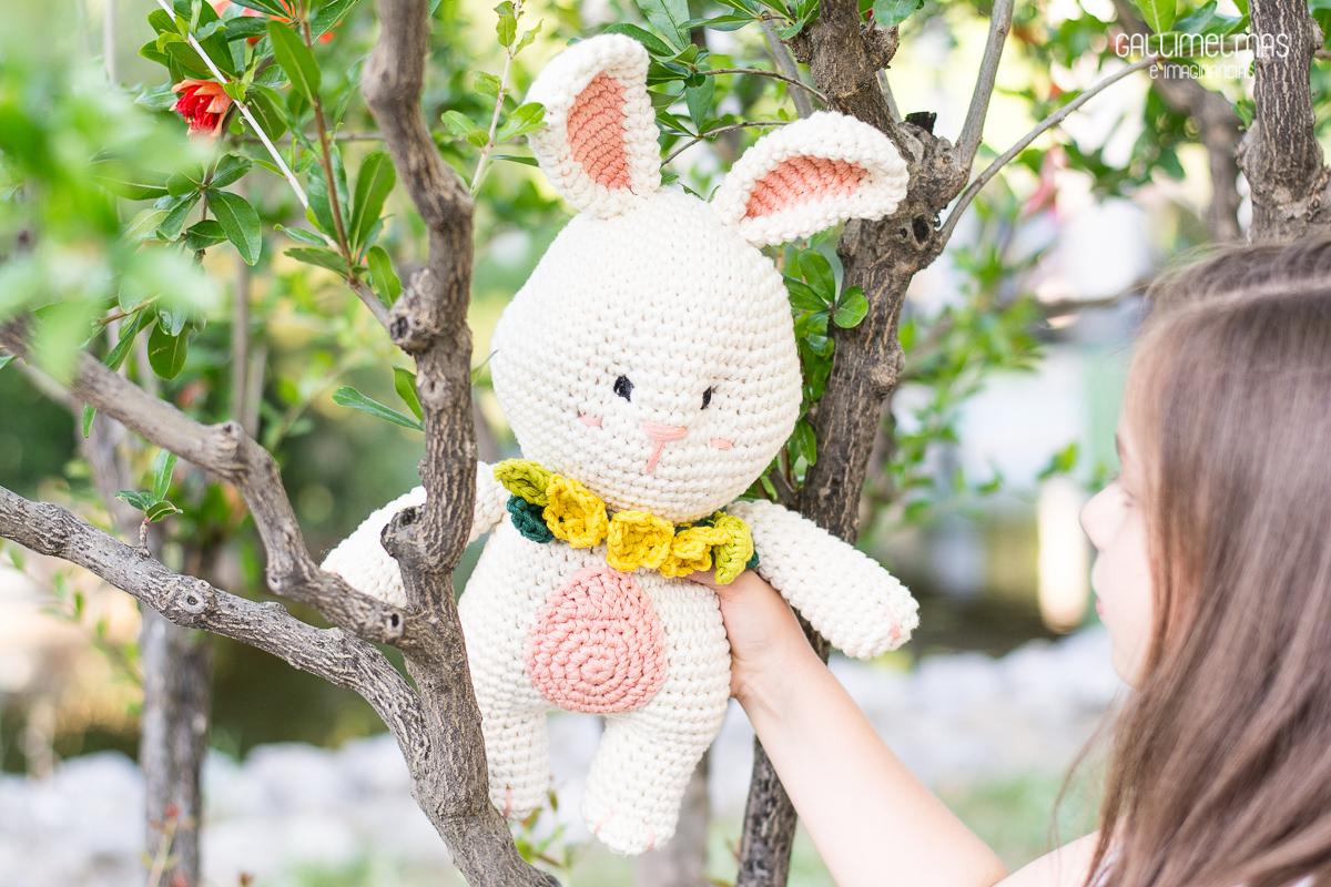 El blog de Dmc: Patrón de ganchillo: Conejo feliz de Gallimelmas