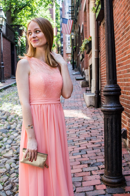 pink bridesmaid dress review azazie