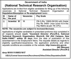NTRO Recruitment 2016