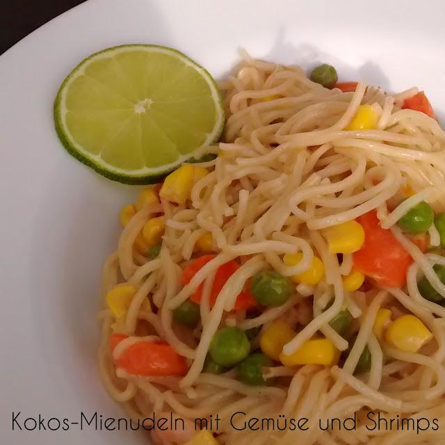 [Food] Kokos-Mienudeln mit Gemüse und Shrimps