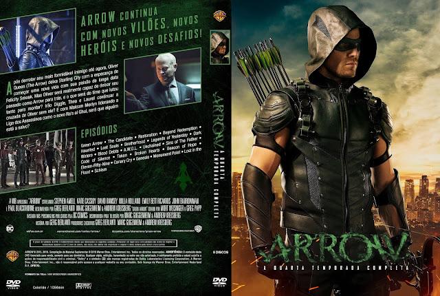 Capa DVD Arrow Quarta Temporada Completa